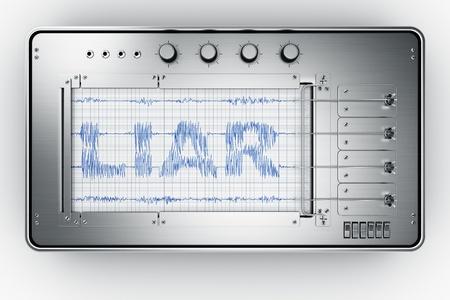 3D-Rendering eines Lügendetektor Standard-Bild