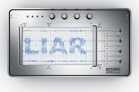 3d rendering of a lie detector Foto de archivo