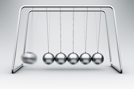 3d rendering of a Newtons cradle photo