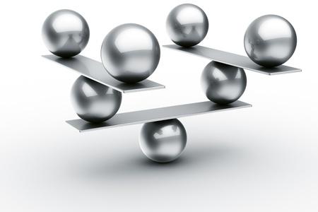 estructura: Representaci�n 3D de pelotas de equilibrio