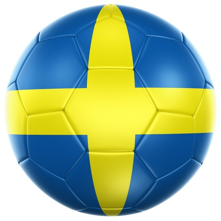 3d rendering of a Swedish soccer ball isolated on a white background Stock Photo - 12905003