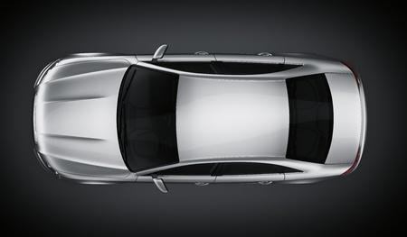 brandless 一般的なシルバーの車の 3 d レンダリング 写真素材