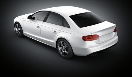 brandless 一般的な白い車の 3 d レンダリング