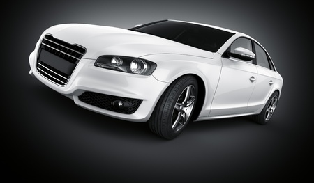 3d rendering of a brandless generic white car Stock Photo - 12905116