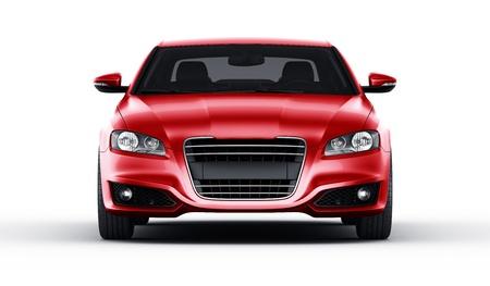 私自身のデザイン スタジオ環境での brandless 一般的な赤い車の 3 d レンダリング 写真素材