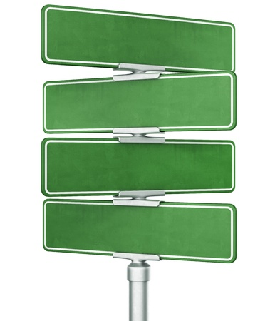 eachother: 3d rendering of four blank signs stacked ontop of eachother