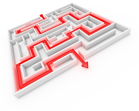 solves: 3d rendering of a maze with the correct path given.