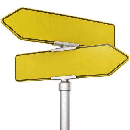 road sign highway sign: 3d rendering of blank yellow traffic sign