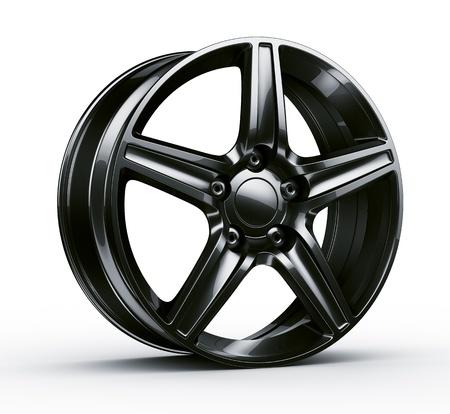 3d rendering of a black rim photo