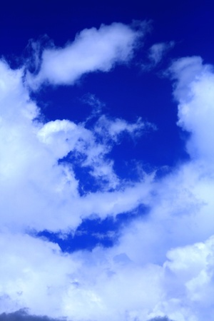 Blue sky filled with cloud Stock Photo