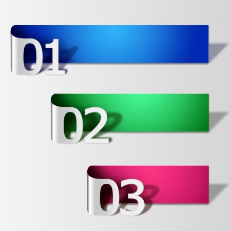 number paper Stock Vector - 14568099
