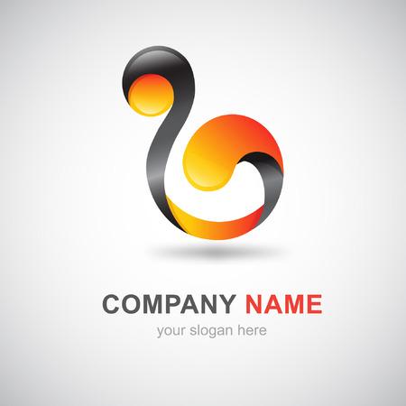 business design based on letter B Stock Vector - 24366609