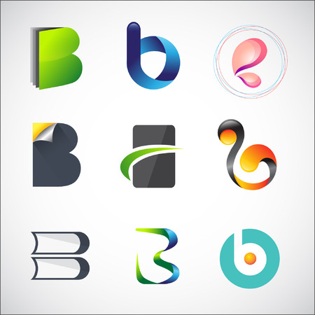 Design based on letter B Stock Vector - 24440455