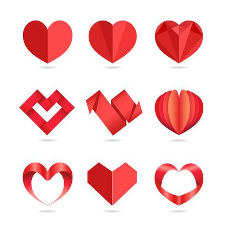 Icone del cuore Vettoriali