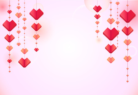 Paper hearts background Illustration