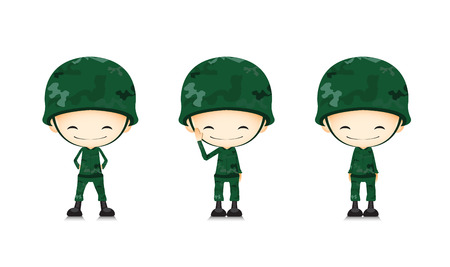 soldier with rifle: A army soldier cartoon