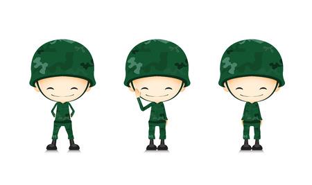 Ein Soldat Karikatur