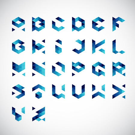 Modern Abstract Colorful Alphabet-Geometric Style