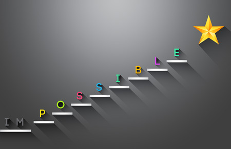 Possible stair steps to success Business concept Vector