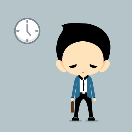 tired man: Depressed  BusinessmanVector Illustration