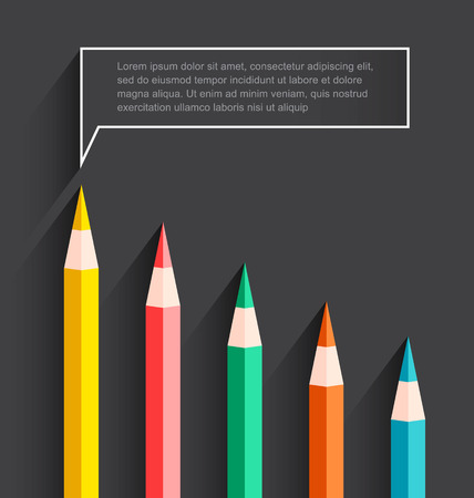 Colored pencil chart-Vector Illustration