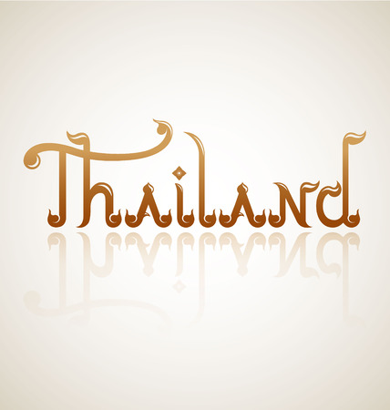 Thailand alphabet design-Vector Illustration