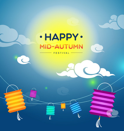 cake background: Mid autumn festival-Vector Illustration
