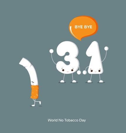 tobacco: World No Tobacco Day Illustration Illustration
