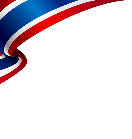 Thai flag with copyspace for your text or images and white background