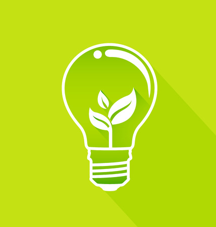 Light bulb with sprout inside-Eco energy concept