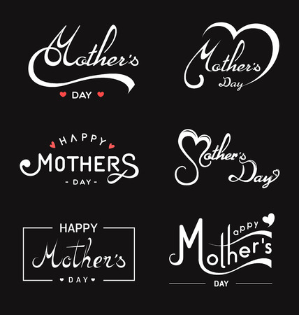 Happy Mothers Day lettering.Handmade calligraphy- Vector Illustration.