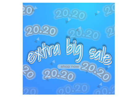 banner for extra big sale at 20.20