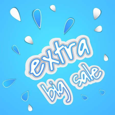 extra big sale banner with blue background Ilustração
