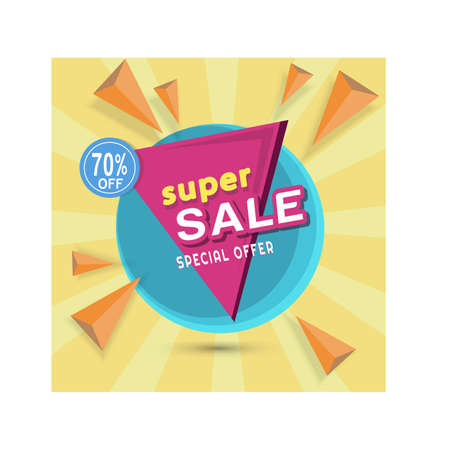 Super sale banner up to 70%