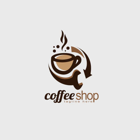coffee shop logo, both used for coffee products or restaurants