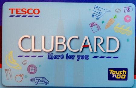 テスコのクラブカード 写真素材