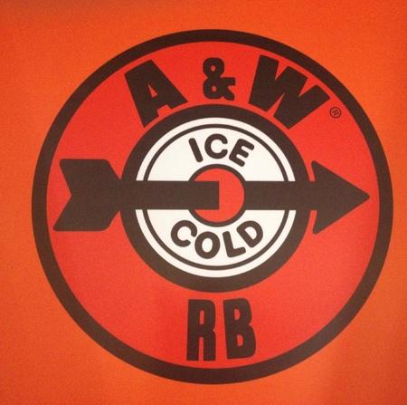 A ・ W ルートビア ロゴ 写真素材