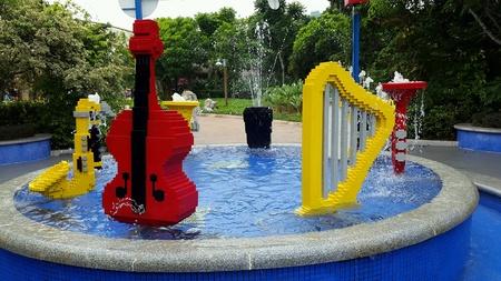 レゴランドで楽器 写真素材