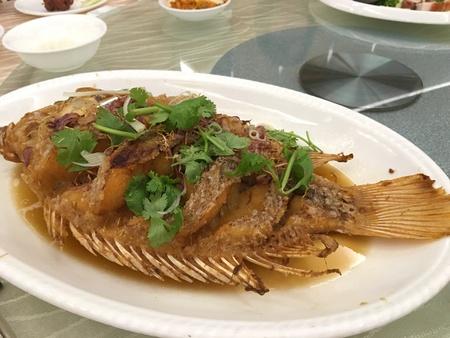 ティラピア魚のフライ