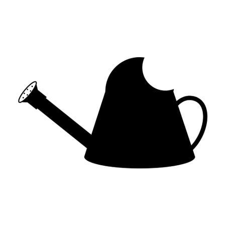 Watering can black icon.  Vector eps 10
