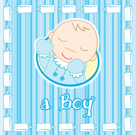 a baby boy sleeping, Vector illustration