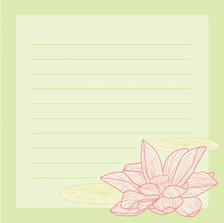in lined: Abstract illustration of the notepad with nature background