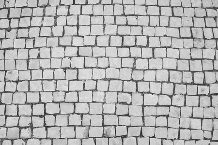 Stone Floor Texture Background In Black And White Stock Photo
