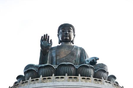 Tian Tan Giant Buddha of Po Lin Monastery, Landmark on Lantau Island, Hong Kong Stock Photo