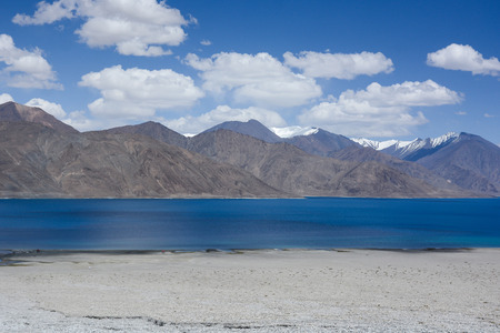 at the highest: Pangong lake , the highest salt water lake in the world