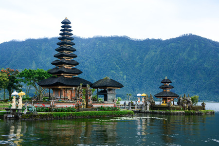 Pura Ulun Danu Bratan, Hindu temple on Bratan (Beratan) lake, Bali, Indonesia