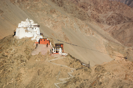 gompa: Namgyal Tsemo Gompa buddhist monastery in Leh Ladakh India