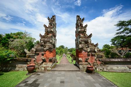 Taman Ayun temple Pura Tamen Ayun gate Bali Indonesia photo
