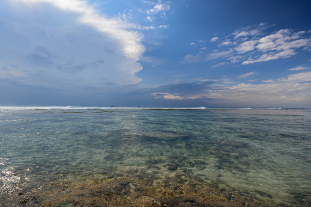 horizon over water: Summer landscape with sea and horizon over water in Bali Indonesia Stock Photo