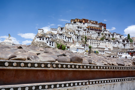 gompa: Thiksey Monastery (Thiksey Gompa), Ladakh, India Stock Photo
